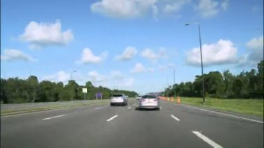Road Rage High Speed Driving in Florida Highway — Stock Video