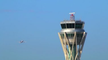 Air Traffic Control Tower — Stock Video