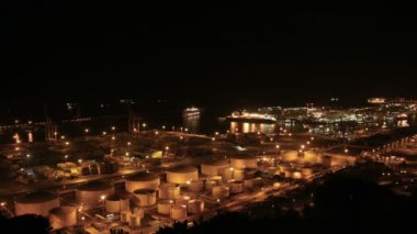 Cruises in the Indstrial Port of Barcelona Time Lapse — Stock Video
