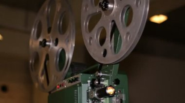 Film Projector Projecting 16mm Movie — Stock Video