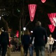 Barcelona Christmas Shopping at Night — Stock Video #58923453