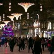 Barcelona Christmas Street Lights Decorations — Stock Video #58939773