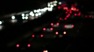 Highway Traffic Cars at Night Blurred — Stock Video
