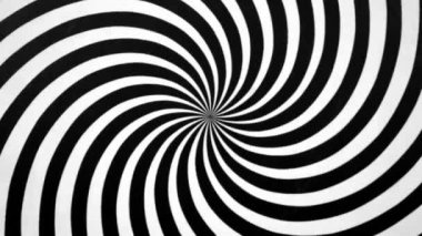 Black and White Spiral Spinning — Stock Video