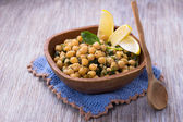 Spiced chickpeas with spinach — Fotografia Stock