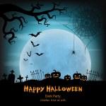 Halloween vector background with moon — Stock Vector #55860821