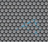 Background with metal hexagons — Stock Vector