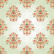 Seamless background with floral symmetrical elements. — Stock Vector #56064799