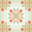 Background with floral symmetrical elements — Stock Vector #56072427