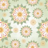 Seamless background with floral round elements — Stock Vector