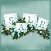 Christmas sale background — Stock Vector