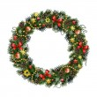 Realistic Christmas wreath isolated от white background — Stock Vector #57539151