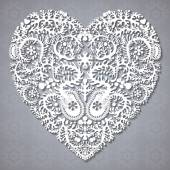 Greeting card with lacy heart — Stockvector