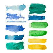 Set of watercolor vector rectangular spots — Stock Vector