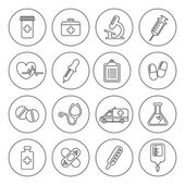 Set of vector Medical Line Icons — Stock Vector
