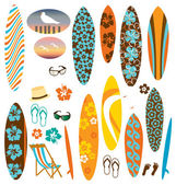 Surf board clip art — Stock Vector