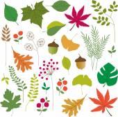 Leaves clip art — Stock Vector