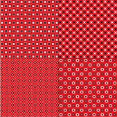Red Bandanna Patterns — Stock Vector