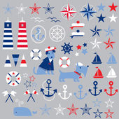 Nautical Clip Art — Stock vektor