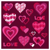 Mod valentines — Stockvektor