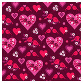 Valentine pattern with Birds — Stock Vector