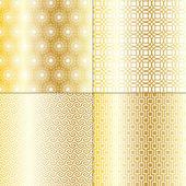 Golden geometric patterns — Stock Vector