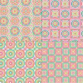 Granny Square Patterns — Stockvector