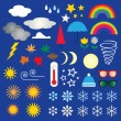 Weather Symbols Clip art — Stock Vector #65477473