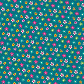 Lindo patrón floral — Vector de stock
