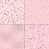 Pink floral patterns — Stock Vector