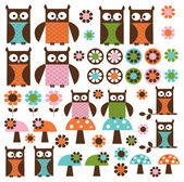 Owl clip art — Stock Vector