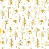 Gold winter pattern — Stock Vector