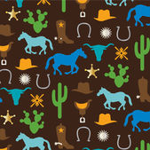 Cowboy pattern background — Stock Vector