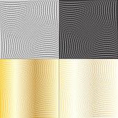 Fishnet patterns set — Stock Vector