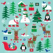Christmas clip art — Stock Vector