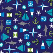 Nautical pattern background — Stock Vector