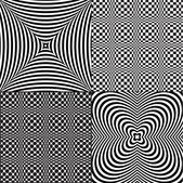 Pop art patterns — Stock Vector