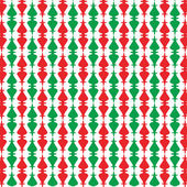 Red and green ornaments — Stockvektor
