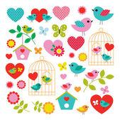 Birds clip art — Stock Vector