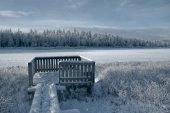Frozen viewpoint — Stock Photo