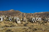 Cemitério nos Andes — Fotografia Stock