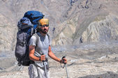Engilchek glacier hiking — Stock Photo
