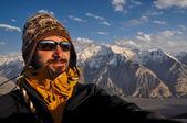 On summit in Kyrgyzstan — Stock Photo