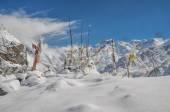Himalayas near Kanchenjunga — Foto Stock