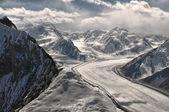 Fedchenko glacier in Tajikistan — Stock Photo