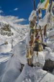 Prayer flags in Himalayas — Stock Photo