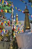Buddhist prayer flags in  Dharamshala, India — Fotografia Stock