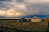 Yurts in Kyrgyzstan — Stock Photo