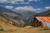 Nepalese hut — Stock Photo