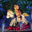 Teddy bears Christmas lighted display — Stock Video #59563249